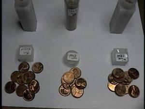 1957D   1958 AND 1958D ROLLS WHEAT PENNIES 50 COINS EACH ROLL NICE