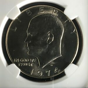 Click now to see the BUY IT NOW Price! 1974 D $1 EISENHOWER DOLLAR NGC MS67    2713553 008C