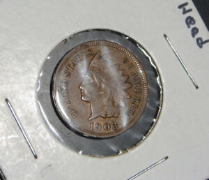 1901 1903 1907 INDIAN HEAD CENTS
