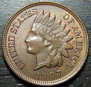 1907/07 INDIAN HEAD CENT      MAKE US AN OFFER   O2649
