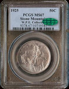 Click now to see the BUY IT NOW Price! 1925 50C STONE MOUNTAIN SILVER COMMEMORATIVE PCGS MS67 AND CAC