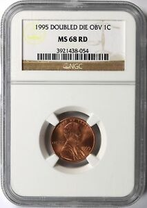 1995 DDO DOUBLED DIE OBVERSE 1C LINCOLN CENT NGC MS68RD