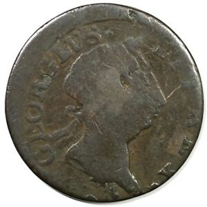 GEORGE III UNIFACE ERROR COLONIAL COPPER COIN
