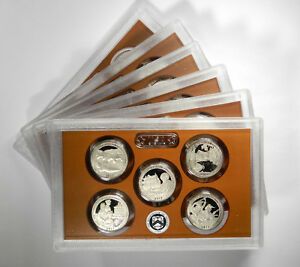 2017 ATB NATIONAL PARK QUARTERS 5 COIN CLAD PROOF SET   GROUP OF 5 SETS