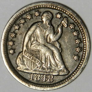 1848 O SEATED HALF DIME   NICE XF    PRICED RIGHT