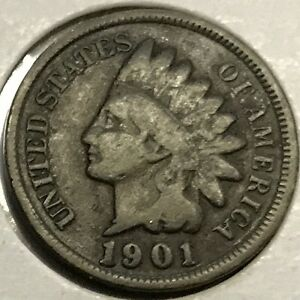 1901 INDIAN HEAD CENT    HIGH GRADE   SEE PICTURES   NICE COIN  UP FOR BIDS 133