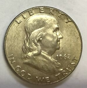 1962 D FRANKLIN HALF   HIGH GRADE   SEE PICTURES   NICE COIN   UP FOR BIDS  142