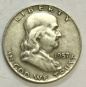 1957 D FRANKLIN HALF   HIGH GRADE   SEE PICTURES   NICE COIN   UP FOR BIDS  138