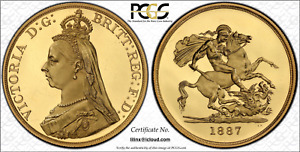 Click now to see the BUY IT NOW Price! GREAT BRITAIN VICTORIA 5 POUNDS PCGS PR63DCAM