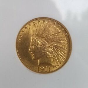 1911 $10 INDIAN HEAD GOLD EAGLE  GRADED: NGC MS 62