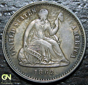 1862 P SEATED HALF DIME      MAKE US AN OFFER   Y8949