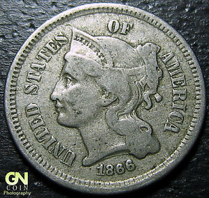 1866 3 CENT NICKEL PIECE      MAKE US AN OFFER   Y5353