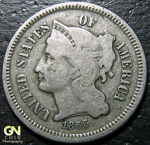 1866 3 CENT NICKEL PIECE      MAKE US AN OFFER   Y5341