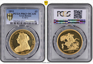 Click now to see the BUY IT NOW Price! GREAT BRITAIN VICTORIA 5 POUNDS PCGS PR63 DCAM