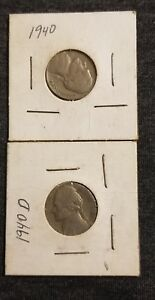 WOW  LOT OF TWO 1940 GEORGE WASHINGTON NICKLES IN GOOD CONDITION