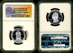 2010 S  SILVER HOT SPRINGS PF70 ULTRA CAMEO NGC ALTERED ATB LABEL