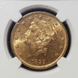 1899 S $20 LIBERTY HEAD GOLD DOUBLE EAGLE  GRADED: NGC MS 63