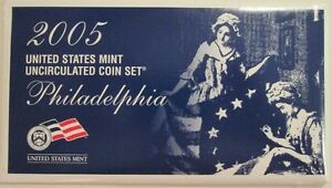 2005 UNITED STATES DENVER AND PHILADELPHIA 22 COIN MINT SET