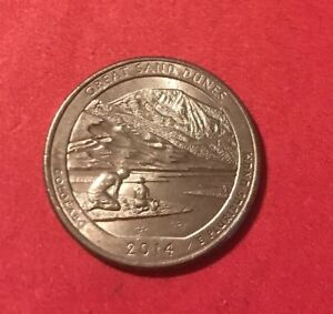 2014 P GREAT SAND DUNES NP AM. THE BEAUTIFUL QUARTER  BUY 6 GET 40  OFF  1010