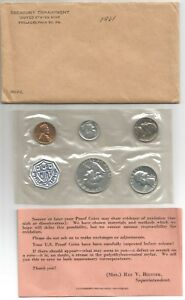 Click now to see the BUY IT NOW Price! 5 @ 1961 62 63 PHILADELPHIA US PROOF SET ORIG OPEN ENVELOPE COMPLETE; 1 OWNER