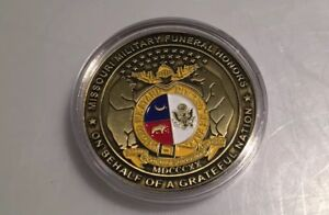 VINTAGE MISSOURI MILITARY FUNERAL HONORS COIN ON BEHALF GRATEFUL NATION
