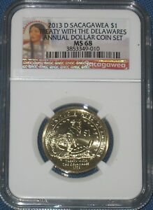 2013 D SACAGAWEA NATIVE ANNUAL DOLLAR SET NGC GRADED MS 68 BUSINESS STRIKE SAC