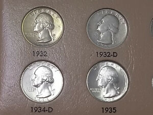 Click now to see the BUY IT NOW Price! 1932   1998 PDSS COMPLETE 186 WASHINGTON QUARTER BU SET