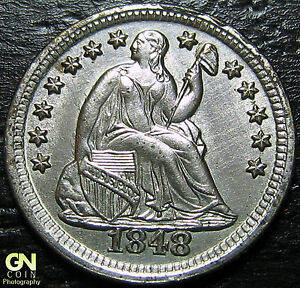 1848 O SEATED HALF DIME V4A     MAKE US AN OFFER   G4359