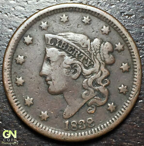 1838 CORONET HEAD LARGE CENT       MAKE US AN OFFER   R3731