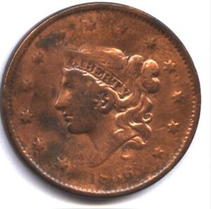 1836 US LARGE CENT   VF DETAIL   CLEANED   DECENT LOOK   GREAT PRICE