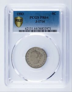 Click now to see the BUY IT NOW Price! 1883 PATTERN NICKEL PROOF J 1714 GRADED BY PCGS AS PR64