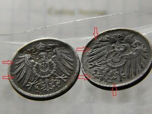 CINS HME CRACKED CLISCHE ERROR 1917 1921 GERMANY 10 PFNGS LOTRPE5 UNCERTIFIED