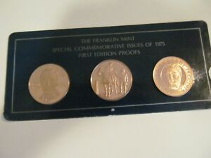 1975 FRANKLIN MINT PROOF COMMEMORATIVE ISSUES