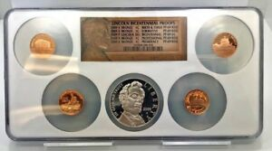 2009 PROOF LINCOLN COIN BICENTENNIAL CHRONICLES SET NGC PF69 ULTRA CAMEO DOLLAR