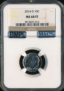 Click now to see the BUY IT NOW Price! 2014 D ROOSEVELT DIME NGC MAC MS68 DMPL PQ FINEST GRADED SPOTLESS