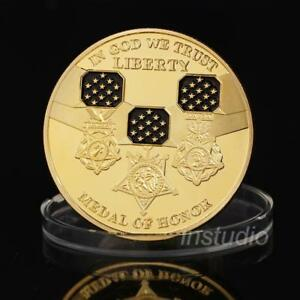 BIN THE UNITED STATES OF COMMEMORATIVE MEDAL COIN COLLECTION ALLOY GOLD PLATI