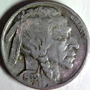 1935 BUFFALO NICKEL 5 CENTS. GOOD DETAIL OBVERSE AND REVERSE. 3004