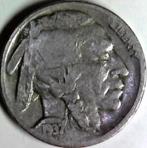 1937 BUFFALO NICKEL 5 CENTS. GOOD DETAIL OBVERSE AND REVERSE. 2958