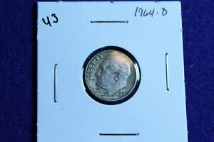 1964 D ROOSEVELT DIME CIRCULATED CONDITION NICE LUSTER 43