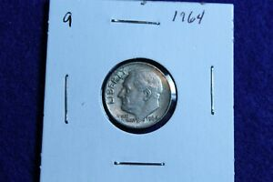 1964 P ROOSEVELT DIME CIRCULATED CONDITION NICE LUSTER 9