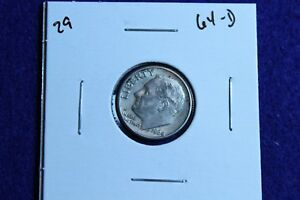 1964 D ROOSEVELT DIME CIRCULATED CONDITION NICE LUSTER 29