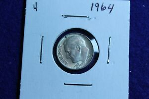 1964 P ROOSEVELT DIME CIRCULATED CONDITION NICE LUSTER 4