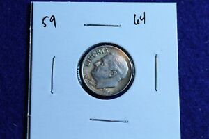 1964 P ROOSEVELT DIME CIRCULATED CONDITION NICE LUSTER 59