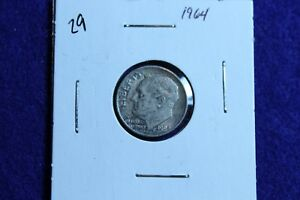 1964 P ROOSEVELT DIME CIRCULATED CONDITION NICE LUSTER 29