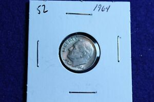 1964 P ROOSEVELT DIME CIRCULATED CONDITION NICE LUSTER 52