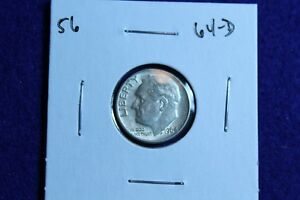 1964 D ROOSEVELT DIME CIRCULATED CONDITION NICE LUSTER 56