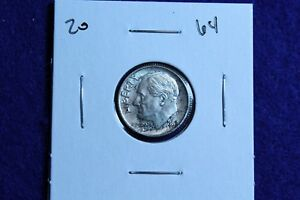 1964 P ROOSEVELT DIME CIRCULATED CONDITION NICE LUSTER 20