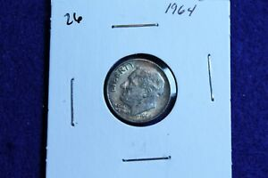 1964 P ROOSEVELT DIME CIRCULATED CONDITION NICE LUSTER 26