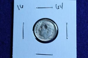 1964 P ROOSEVELT DIME CIRCULATED CONDITION NICE LUSTER 16