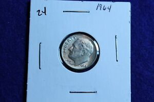1964 P ROOSEVELT DIME CIRCULATED CONDITION NICE LUSTER 24